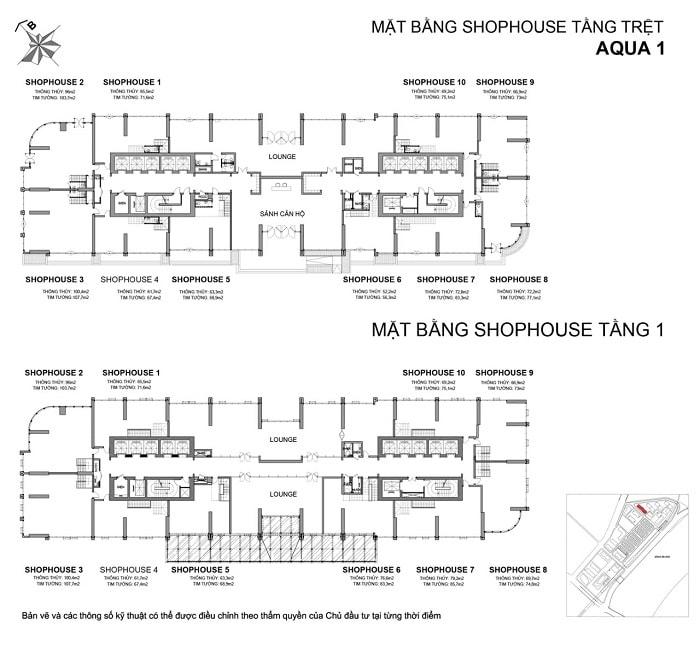 mat bang shophouse aqua 1