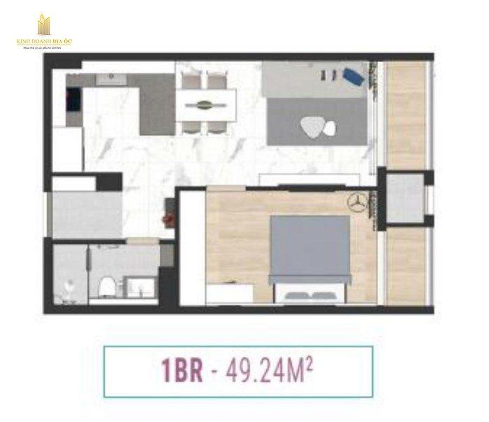 căn hộ 1 phòng ngủ laimian city