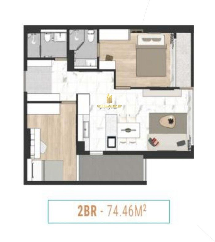 căn hộ 2 phòng ngủ laimian city