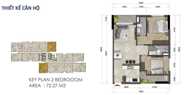 can ho mizuki park 1, 2 dien tich 72,27 m2