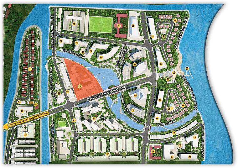 vị trí căn hộ mizuki park 1 , 2