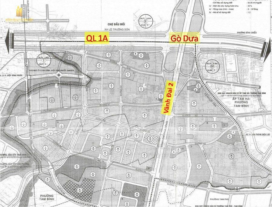 bản đồ quy hoạch dường vành đai 2 (nút giao gò dưa)