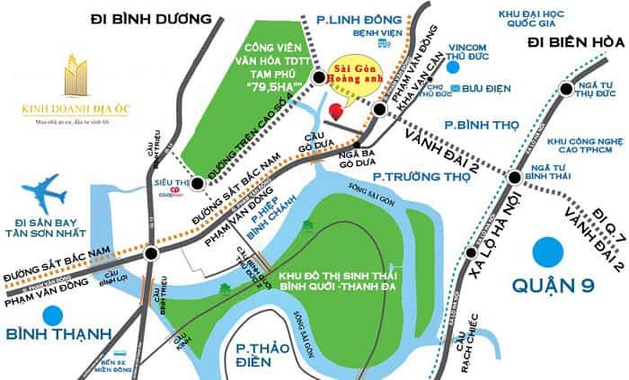 vị trí căn hộ mini Sài Gòn Hoàng Anh