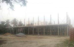 Tiến độ xây dựng Block D đang đổ cột tầng 2