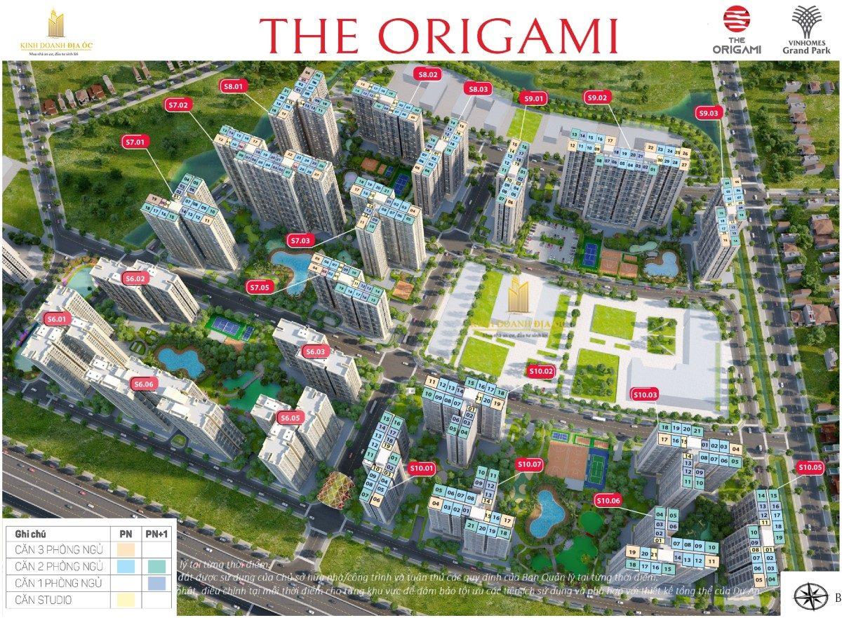 Mặt bằng S10 The Origami Zen