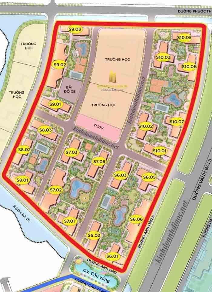 Vị trí S8.03 Vinhomes Grand Park