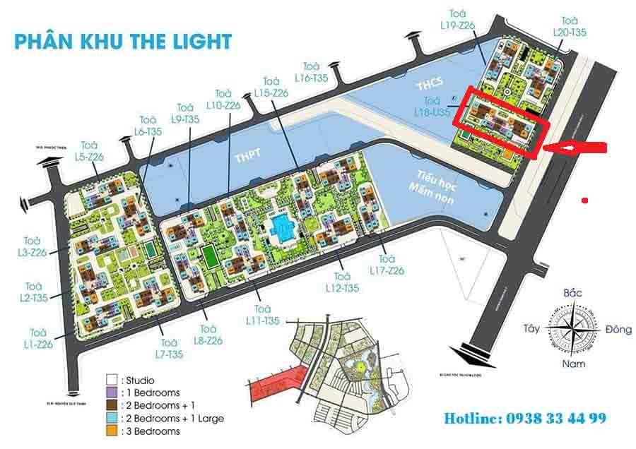 vị trí tòa L18 the light