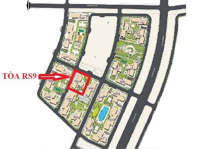 vị trí tòa rs9 the resort