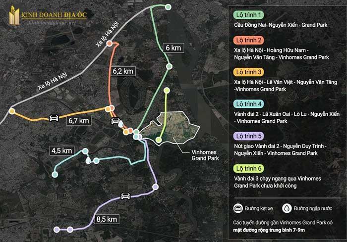 đường đến vinhomes grand park