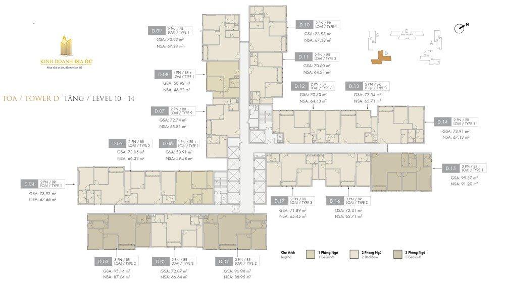 Tòa D Riviera tầng 10-14