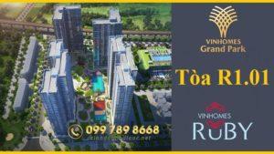 Tòa R1.01 Vinhomes Ruby – The Hospitality