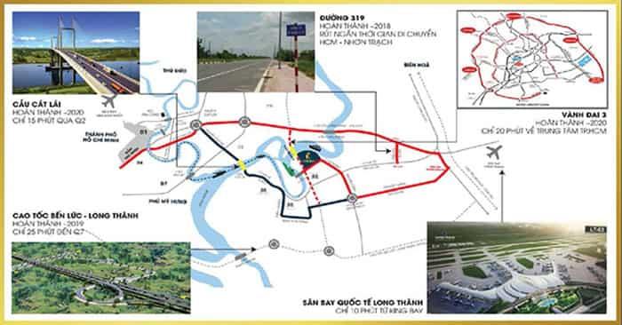 dự án khu đô thị king bay hưởng lợi thế cơ sở hạ tầng từ khu đông