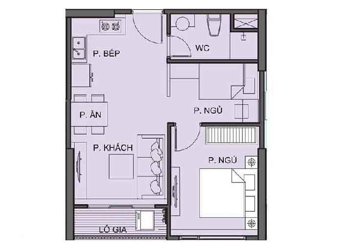 Tòa S6.01 căn hộ 1pn +1