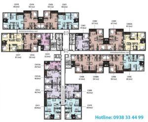 mặt bằng căn hộ 2 phòng ngủ vincity