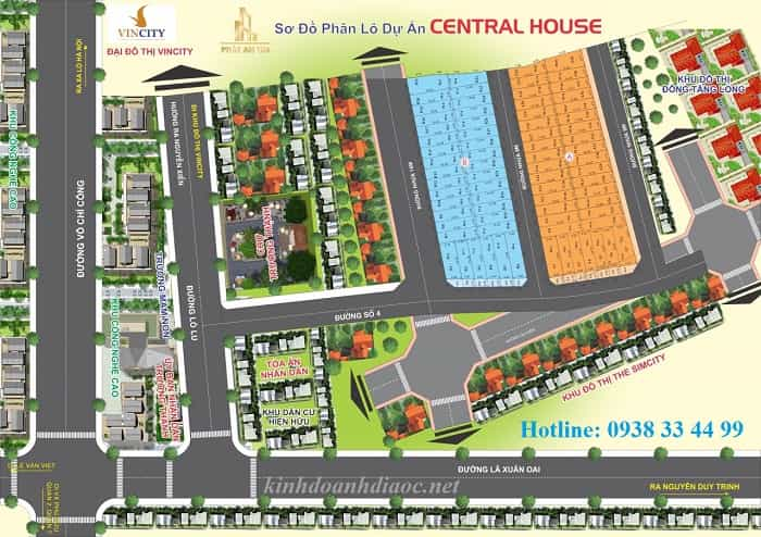 mặt bằng dự án central house