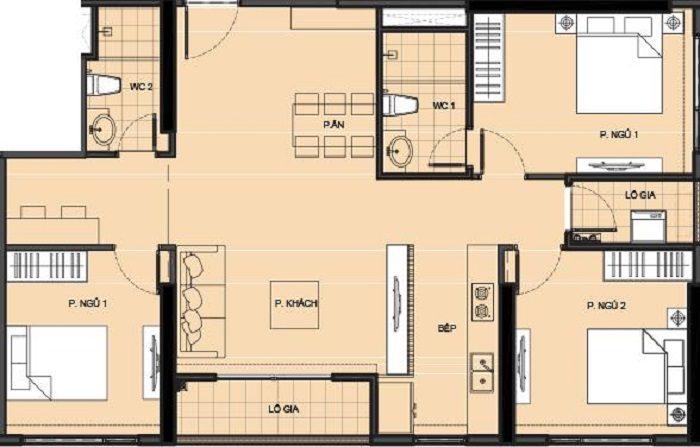 Bán căn hộ 3PN+ vinhomes quận 9