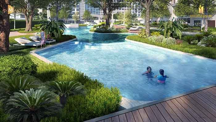 hồ bơi trẻ em masteri quan 9