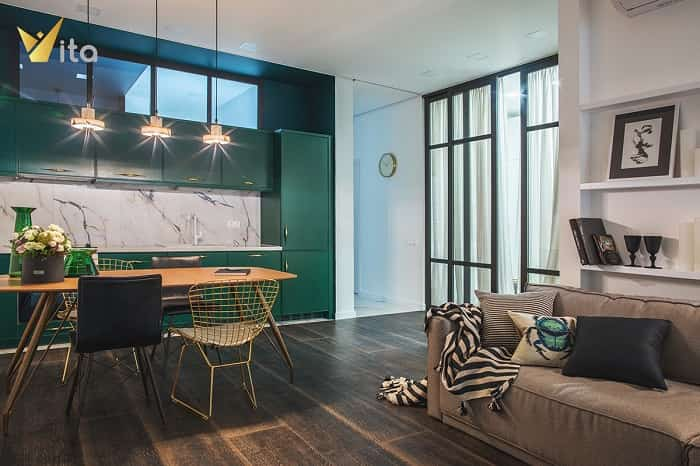 thiết kế nội thất theo phong cách retro
