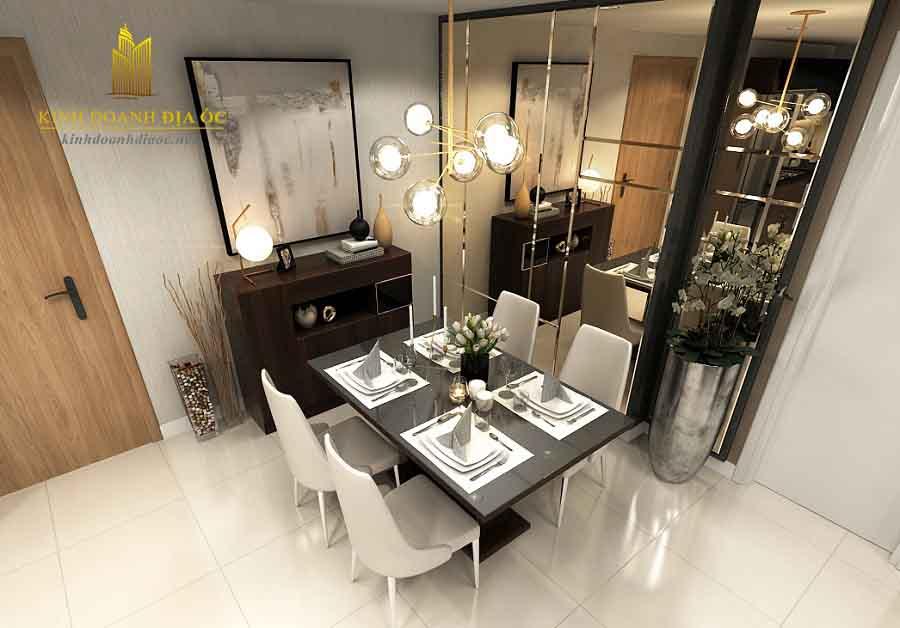 thiết kế nội thất căn hộ vincity 2 phòng ngủ