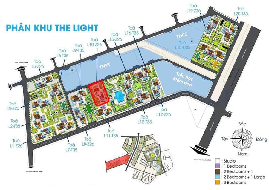 vị trí tòa l10 the light