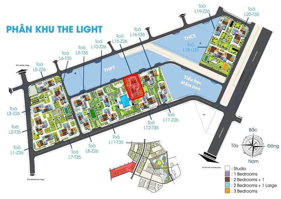 vị trí tòa l15 the light