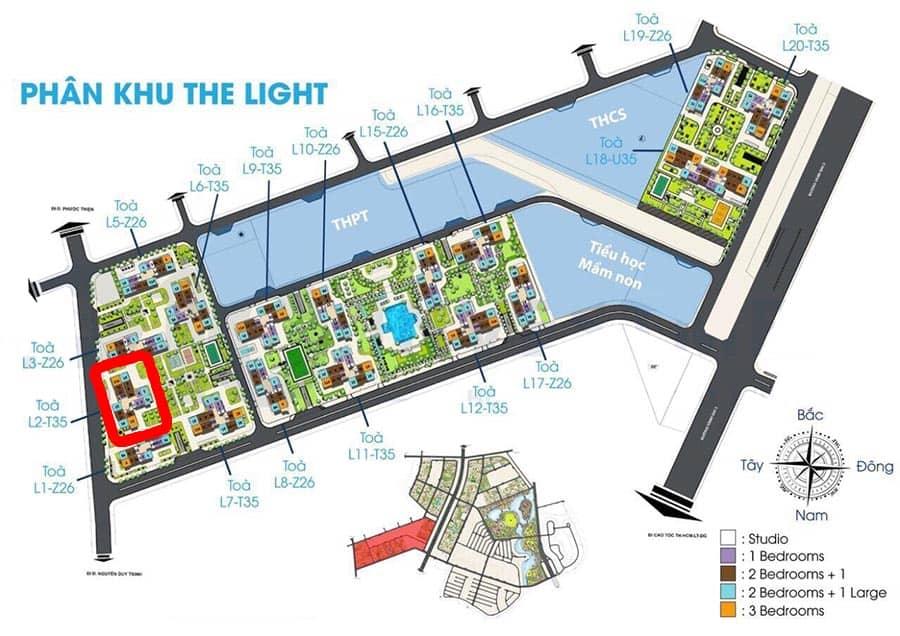 vị trí tòa l2 the light