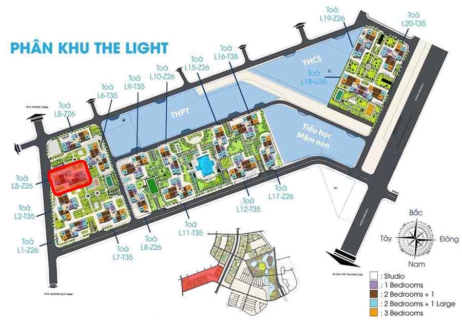vị trí tòa l3 the light