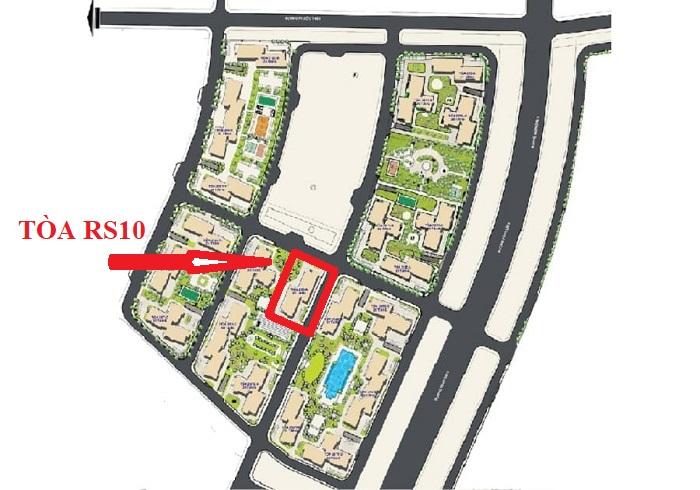 vị trí tòa rs10 the resort