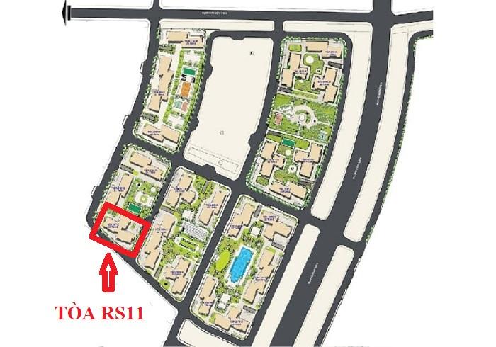vị trí tòa rs11 the resort