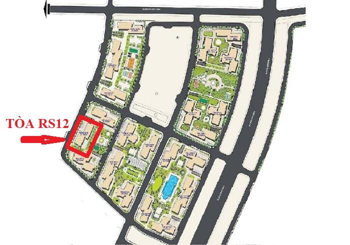 vị trí tòa rs12 the resort