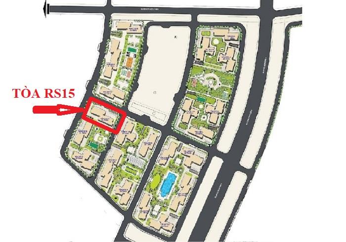 vị trí tòa rs15 the resort