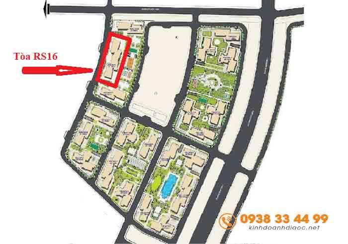 vị trí tòa rs16 the resort