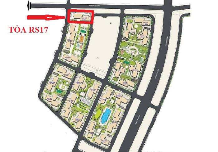 vị trí tòa rs17 the resort