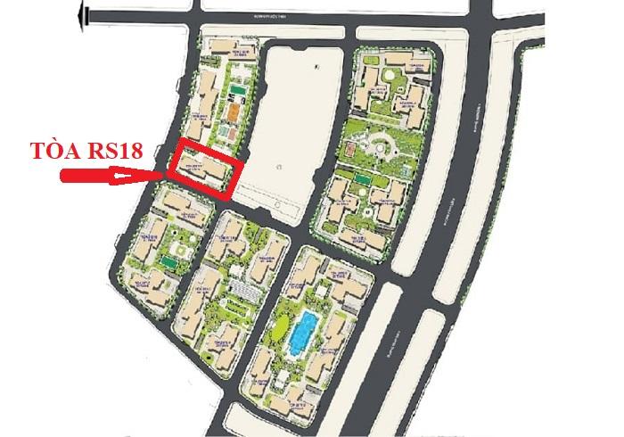 vị trí tòa rs18 the resort