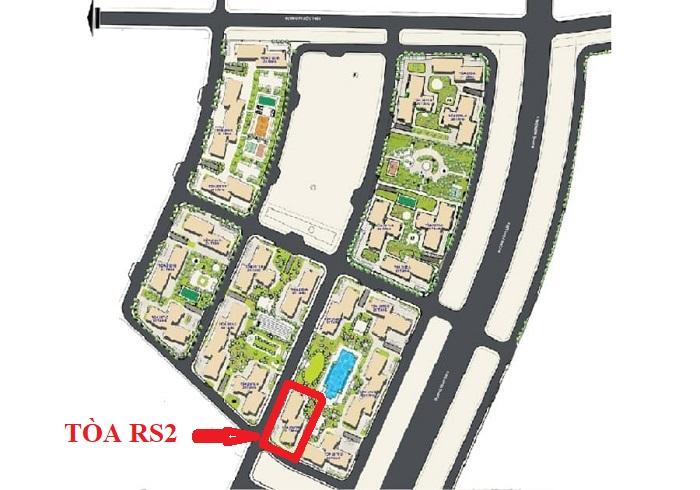 vị trí tòa rs2 the resort