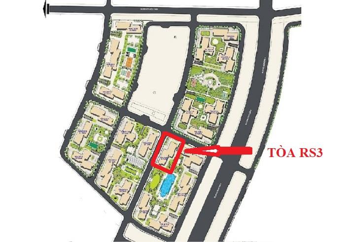 vị trí tòa rs3 the resort
