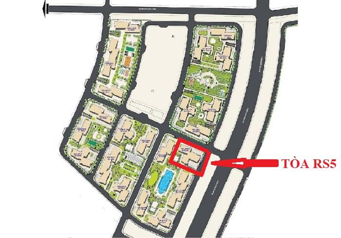 vị trí tòa rs5 - Vinhomes Grand Park Quận 9