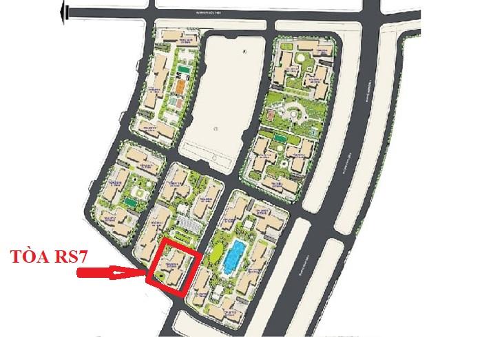vị trí tòa rs7 the resort