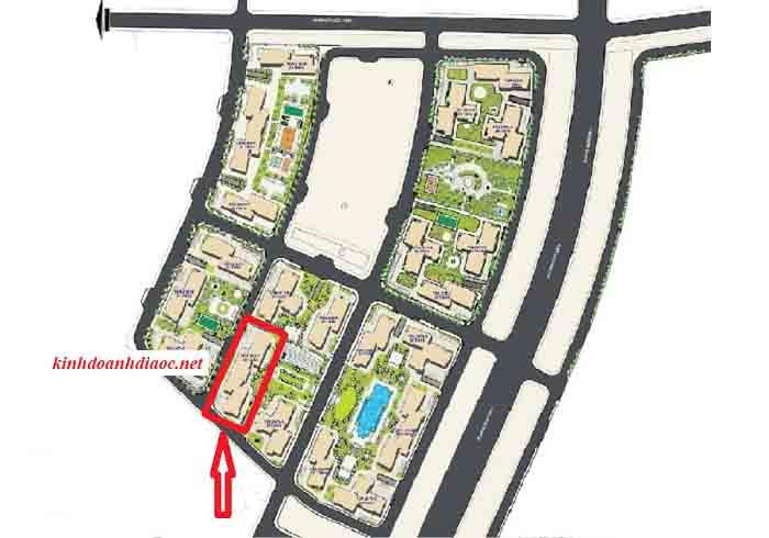 vị trí tòa rs8 the resort