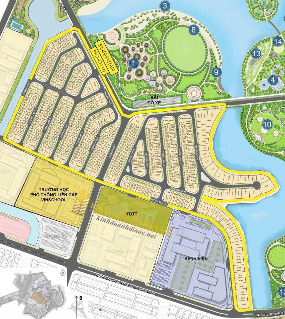 Mặt bằng nhà phố The Manhattan