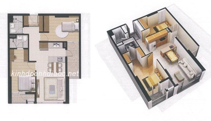 căn hộ 2 phòng ngủ raemian city