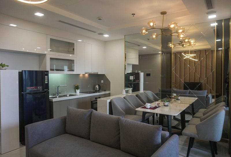 bếp mở căn hộ Landmark 81 1 phòng ngủ