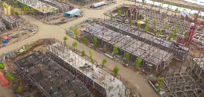 tiến độ nhà phố vinhome grand park