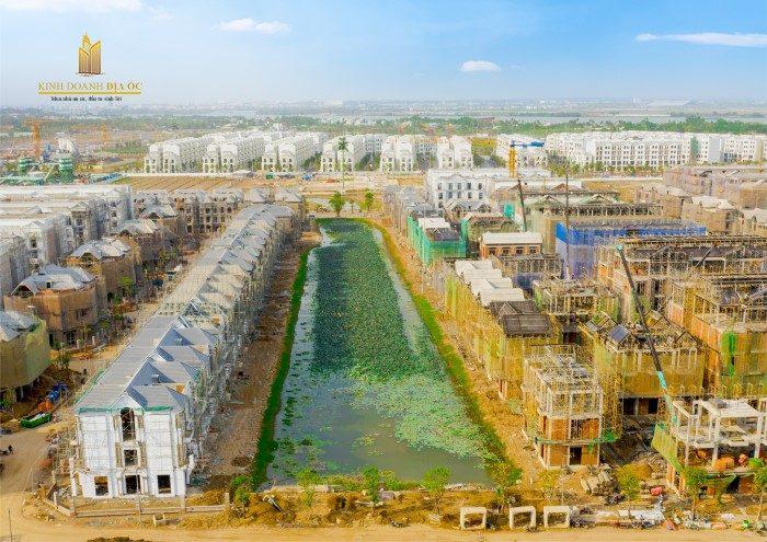 tiến độ xây dựng biệt thự manhattan glory