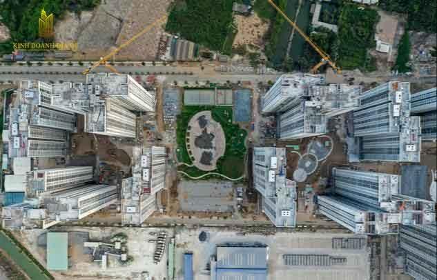 tiến độ xây dựng vinhomes grand park