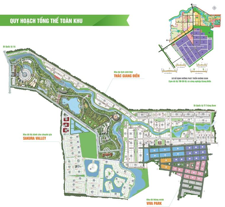 Mặt Bằng Quy Hoạch Tổng Thể Toàn Khu Dự Án Viva Park
