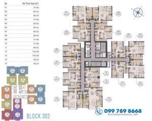 Bán Căn Hộ 3PN Tòa C301 Cụm CT3 Dự Án Laimian City DT 124m2