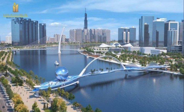 thiết kế cầu đi bộ qua sông sài gòn