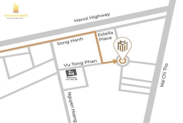 đường đến nhà mẫu masteri centre point