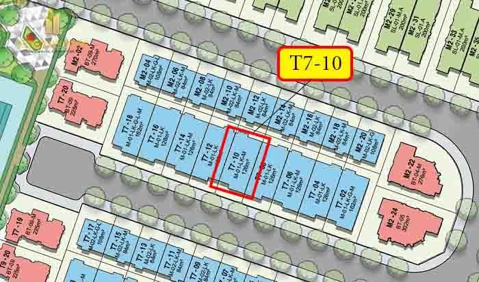 vị trí shophouse T7-10 vinhomes quận 9